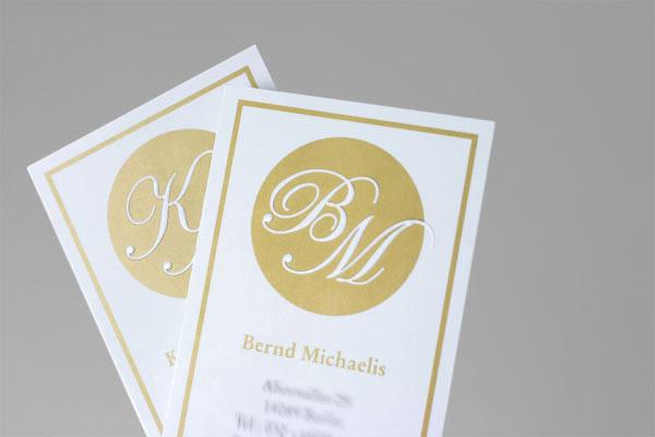Klein Halm Logos Visitenkarten Briefbögen